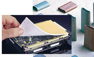 Thermal silicone films, thermal silicone gel caps and other thermal interface products